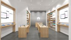 Huawei store design on Behance Design 24, Store Design, Design Ideas, Shop Interiors, Office Interiors, Wall Display Cabinet, Cell Phone Store, Showroom Interior Design, Accessories Display