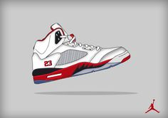 Digital Art - AIR Jordan Retro 5