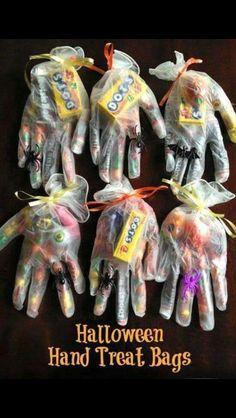 Halloween Hands treat bags