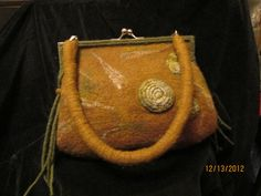 Felted clutch with an attachable shoulder by ValerinaFelting, $100.00