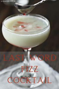 Watch all arguments fizzle out when you serve this Last Word Fizz. The frothy gin drink fuses The Last Word with a Gin Fizz to create the best of both worlds and may even solve a sweethearts' dilemma. Cocktail Recipes To Know, Gin Drink Recipes, Valentine's Day Drinks, Party Drinks, Classic Cocktails, Fun Cocktails, Gin Fizz Cocktail, Easy Christmas Dinner, Romantic Dinners
