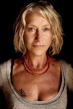Helen Mirren (photographed by Annie Leibovitz).