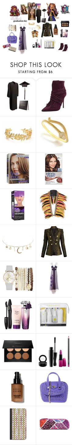 """Monster High: Clawdeen's Graduation Day"" by mimi-world on Polyvore featuring Carrano, Bling Jewelry, L'Oréal Paris, Clairol, Topshop, Charlotte Russe, Balmain, Jessica Carlyle, Alberta Ferretti and Lancôme"
