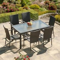 Buy SunTime Lincoln 1.5m Grey Rattan Garden Dining Set from our Rattan Garden Furniture range