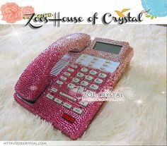 Bling and Sparkly Pink OFFICE / DESK  PHONE to ensure a good conversation for every call. on Etsy, $269.00
