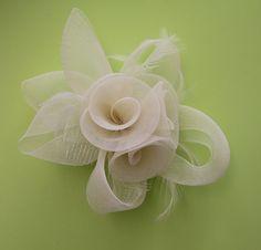 Wedding fascintatorbridal hair comb featherewedding di thevivigirl, $45.00