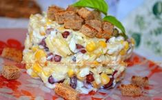 Салат с фасолью, сыром и сухариками - вкусный и сытный салат. Замечательно подойдет как на праздник, так и на семейный обед. Если вы до...