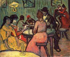 retrogasm:  The Brothel 1887, Vincent Van Gogh