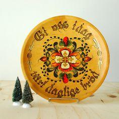 Reserved for Amanda - Vintage Handpainted Norweigan Rosemaling Tray