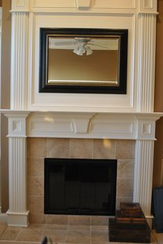 white fireplace surround ideas