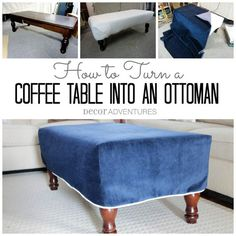 Ottomans on pinterest diy ottoman tufted ottoman and coffee table