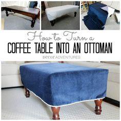 Turn a Coffee Table into an Ottoman