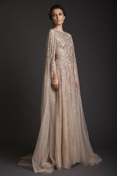 Cheap evening dress, Buy Quality long evening dress directly from China long formal dress Suppliers: Vestidos De Fiesta 2017 Sparkly Krikor Jabotian Long Evening Dresses Robe De Soiree o-neck Beaded chiffon Long Formal Dresses Prom Dresses, Formal Dresses, Elegant Dresses, Hijab Wedding Dresses, Dresses 2016, Long Dresses, Wedding Dress Cape, Hijabi Gowns, Fancy Wedding Dresses