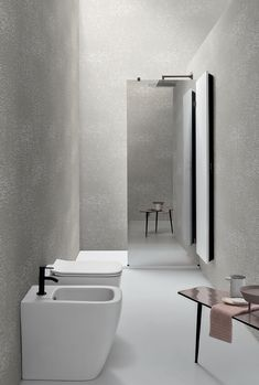One of the most frequent requests that #designers receive is to create a large #shower #cabin without taking up space from the #bathroom. One solution is to make one of the sides of the shower cabin with a #mirrored #glass, giving depth to the #room. Shower Cabin, Bathtub, Large Shower, Mirror, Bathroom, Glass, Wall, Designers, Space