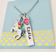 Personalized Unicorn Necklace Unicorn Name Necklace Unicorn | Etsy