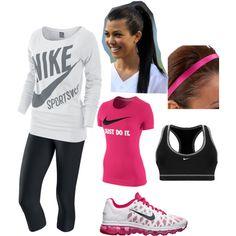 Nike, created by jill-hammel on Polyvore