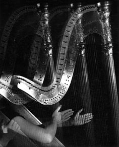 by Imogen Cunningham, Three Harps, 1935 Ellen Von Unwerth, Vivian Maier, Annie Leibovitz, Messina, Photography Women, Fine Art Photography, White Photography, Portland, Olivia Parker