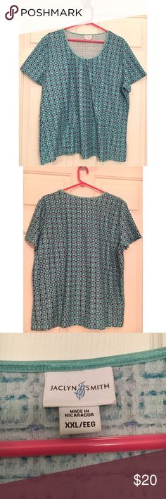 Jaclyn Smith Top Jaclyn Smith Top. Only worn a couple times. Great condition. Size XXL. Jaclyn Smith Tops