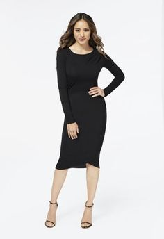 Just purchased the Crossover Drape Front Dress from JustFab.com #ambsdr #JustFab