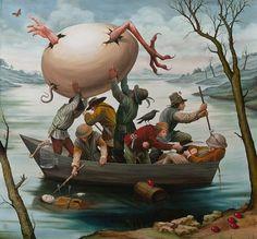 Pinturas surrealistas modernas óleo  Mike Davis 1