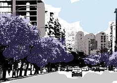Jacarandás Avenida Figueroa Alcorta Ciudad de Buenos Aires