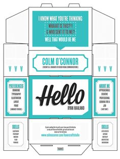 Self Promotion by Colm O Connor, via Behance