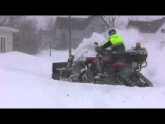 Snowblower ATV on Tracks - YouTube