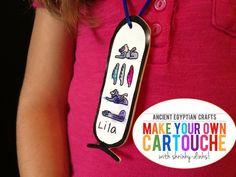 explore ancient egypt: make a shrinky dink cartouche