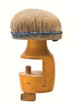Tabletop pin cushion Hancock, M.A.  c.1850-1860