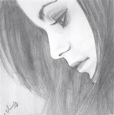 Easy sketches easy sketches to draw, pretty easy drawings, easy things to s Easy Pencil Drawings, Pretty Easy Drawings, Girly Drawings, Beautiful Drawings, Pretty Drawings Of Girls, Pencil Drawing Images, Pencil Sketching, Girl Drawing Sketches, Face Sketch