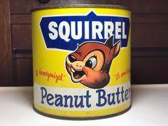 Vintage Packaging, Packaging Design, Peanut Butter Brands, Squirrel Art, Old Ads, Vintage Tins, The Good Old Days, Vintage Photography, Vintage Advertisements