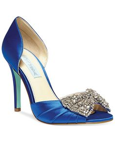 e9f886ffb09e Blue by Betsey Johnson Gown Evening Pumps Shoes - Pumps - Macy s. Bridal ...