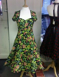 Winter Hibiscus dress from my friends shop, The March Hare, Looe, Cornwall.