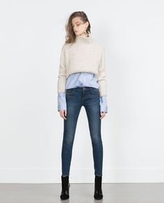Image 1 of MID-RISE SKINNY JEANS from Zara