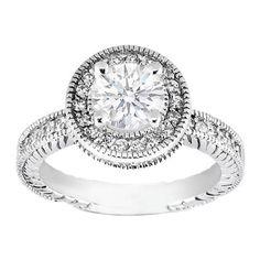 Round Diamond Engagement Ring Double Halo $1,185