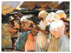 Valencianas en la Playa (Women from Valencia on the beach), 1915 by Joaquin Sorolla y Bastida Spanish Painters, Spanish Artists, Claude Monet, Figure Painting, Painting & Drawing, Paintings I Love, Renoir, Artist At Work, Canvas Art Prints