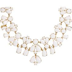 kate spade white and gold bib necklace