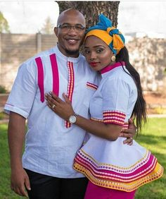 Ideas Fashion African Traditional Wedding Dresses For 2019 Pedi Traditional Attire, Sepedi Traditional Dresses, African Traditional Wedding Dress, African Fashion Traditional, Traditional Weddings, Couples African Outfits, Couple Outfits, African Attire, African Wear