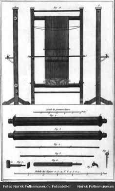 Vertical loom without weights in the Norsk Folkemuseum Weaving Loom Diy, Inkle Loom, Tablet Weaving, Hand Weaving, Viking Life, Medieval Life, Spinning Yarn, Hand Spinning, Tapestry Loom