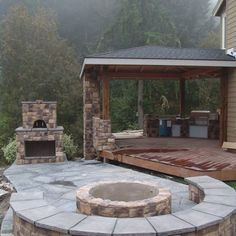 outdoor living, outdoor kitchen, outdoor fireplace, pizza oven, fire pit, covered porch, covered | Yelp