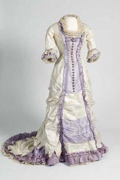 Dress ca. 1880 From the Digitalt Museum
