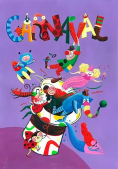 VERBO  LEER: CARNAVAL Parade Route, Mardi Gras Beads, Cute Illustration, New Orleans, Alphabet, Christmas Crafts, Alice, Holiday, Party