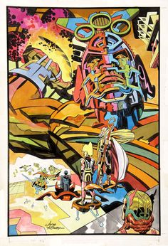 andysuriano:  pizza-party:  wardbcasefiles:  Artist: Jack Kirby  I hope that, when we die, we all get decked out in sweet Jack Kirby New Gods/Eternals gear and get to ride around the cosmos on hover platforms.  We'd better…