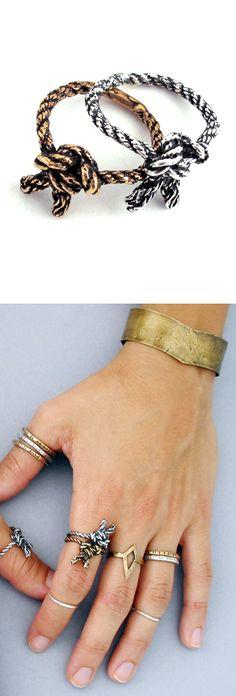 Sailor's knot ring | http://shop.laurelhilljewelry.com/product/climber-s-knot-ring