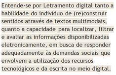 Definição de Letramento Digital Writing, Teaching, Texts, Filter