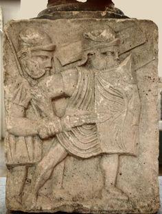 Kaestrich, Mainz pedestals: Advancing soldiers, ca 85 AD
