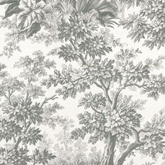 Little Greene Stag Toile - Moss