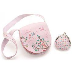 Prachtig schoudertasje en portemoneetje - Zomertuin - #Djeco  #littlethingz2 #girlsmusthave