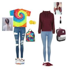 """Best frands✌️✨"" by wildcalifornia2016 ❤ liked on Polyvore featuring Topshop, adidas, Retrò, Eos, MAC Cosmetics and Victoria's Secret"