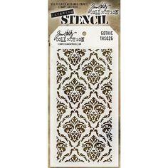 Tim Holtz Estratificación Stencil GOTHIC THS026